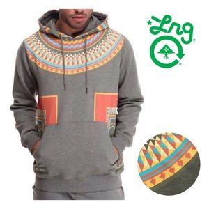 NWOT LRG Dashiki Hoodies Sweatshirt Green